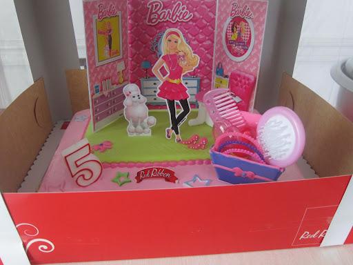 Red Ribbon Barbie Cake Price
