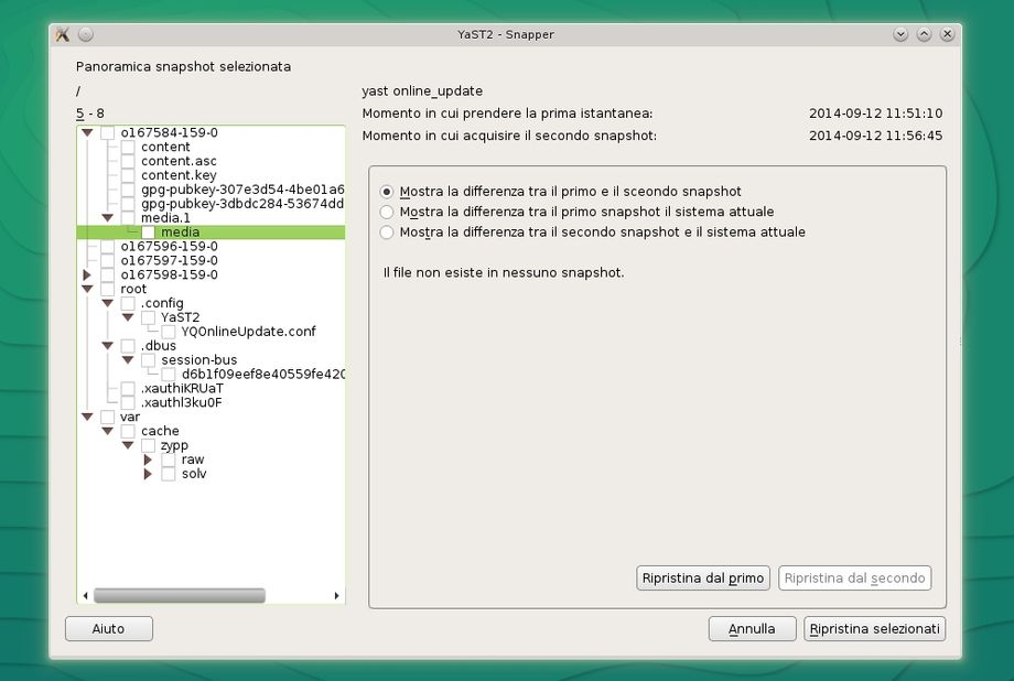 Snapper in openSUSE - Gestore Snapshot