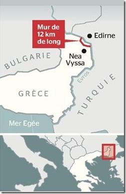 grèce mur infographie