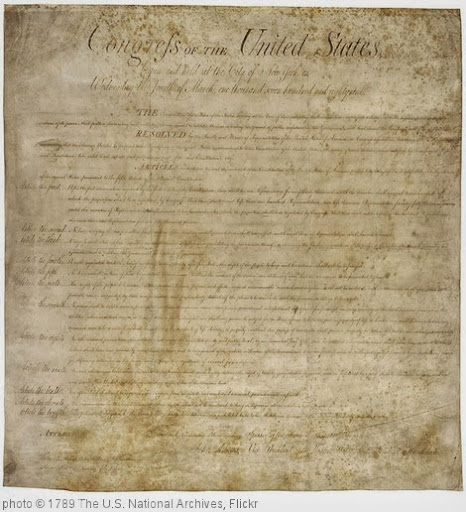 'Bill of Rights, 09/25/1789' photo (c) 1789, The U.S. National Archives - license: http://www.flickr.com/commons/usage/