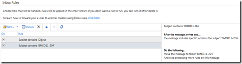 Configuring rules