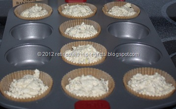 Lemon Poppy Seed  Muffins - ready for oven