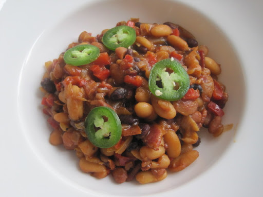Ted's Wicked Pissa BBQ Beans