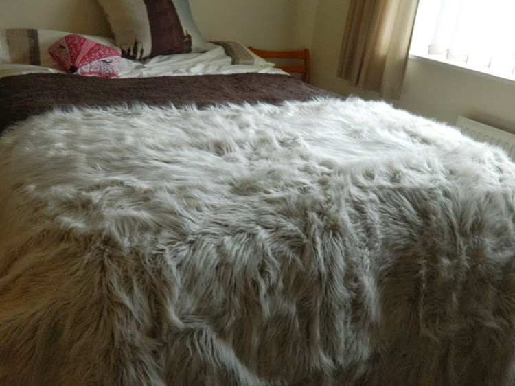 Faux Fur Blanket Out There Interiors