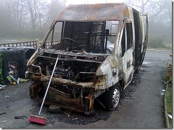 Burnt out van