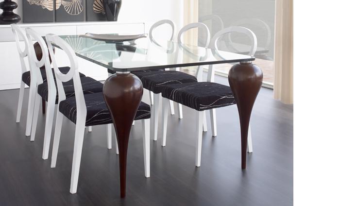 C mo elegir mesa de cristal para tu comedor sin moverte - Kibuc mesas comedor ...