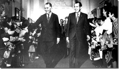 Apoio nos EU Nixon Medici