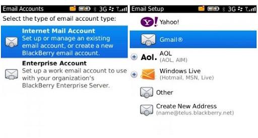Gmail en BlackBerry 3