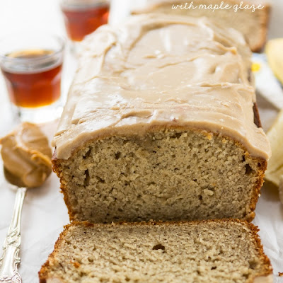 Peanut Butter Banana Bread with Maple Glaze
