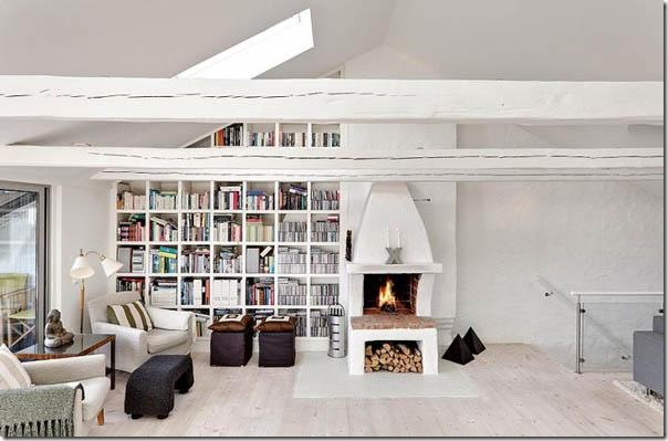 casa svedese su due piani case e interni