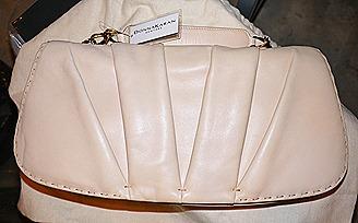 Donna Karen Lambskin clutch
