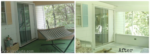 painted porch walls before and after