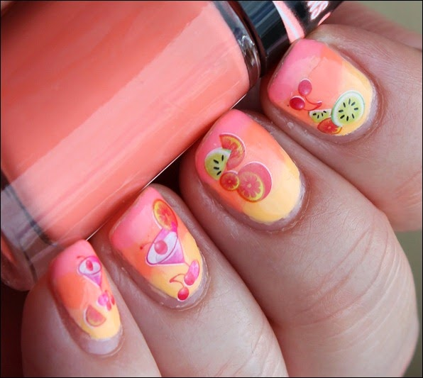 Tropical Island Cocktail Nail Art 8
