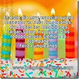En este día muy especial quiero desearte un Feliz Cumpleaños.