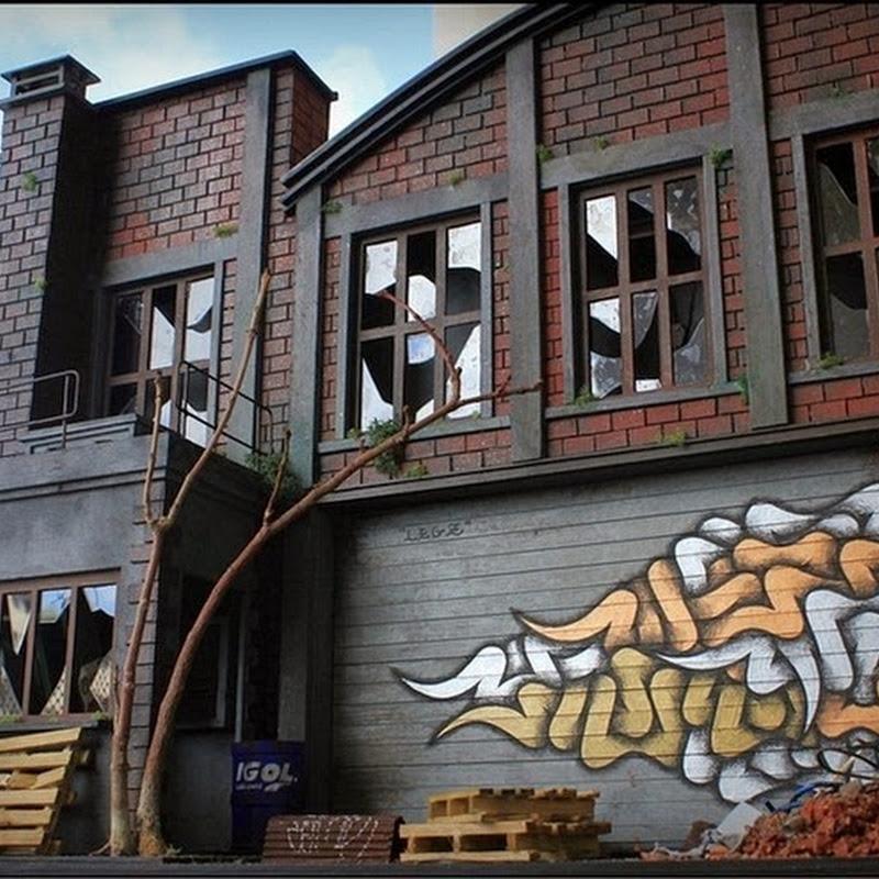 Benjamin Affagard's Miniature Dioramas of Suburban Graffiti