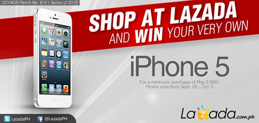 Lazada Philippines iPhone 5 Giveaway