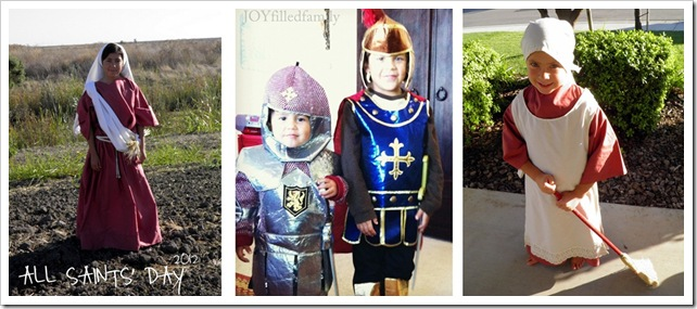 All Saints' Day Costumes JOYfilledfamily kids