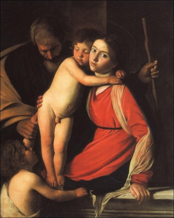 Caravage, St famille avec St Jean-Baptiste
