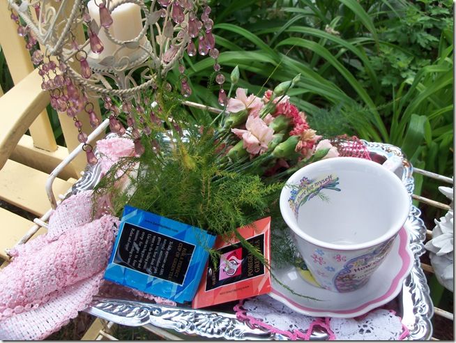 Carnation tea tray 002