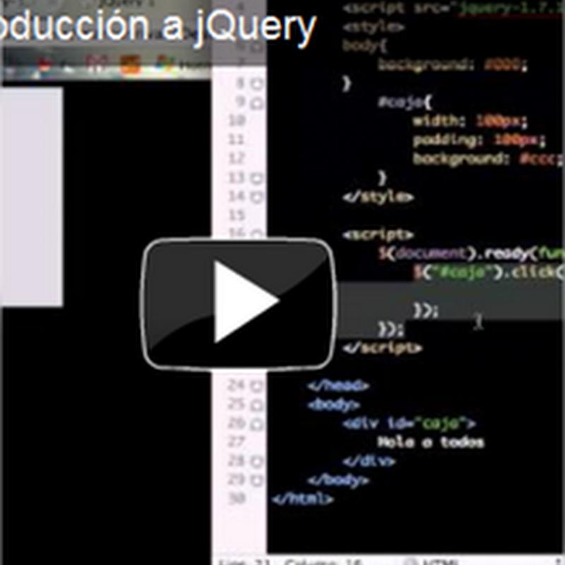 Introducción a jQuery, primeros pasos