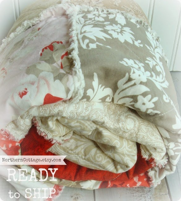 {NorthernCottage} shabby chic rts quilt
