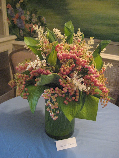 Margaret Pokorny's Enkianthus and Hosta Bouquet