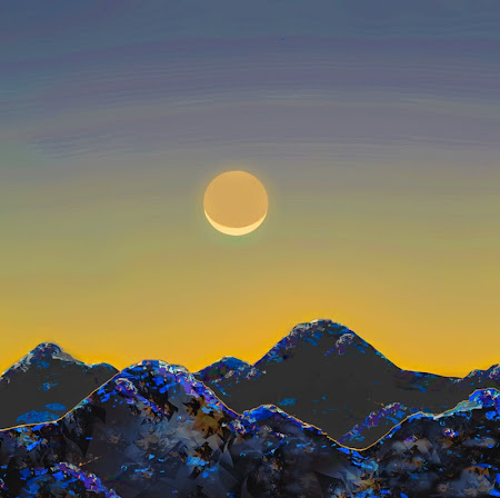 """The """"Moon over Moountains"""" piece from the """"2014"""" collection"""