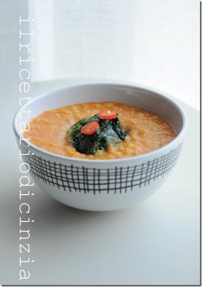 zuppa di lenticchie rosse piccante