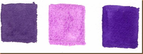 Alizarin crimson violet mix