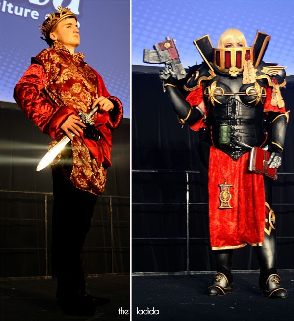 Supanova Sydney 2013 - Madman Cosplay Competition Saturday -  Joffrey Baratheon from Game of Thrones & Adepta Sororitas from Warhammer 40K
