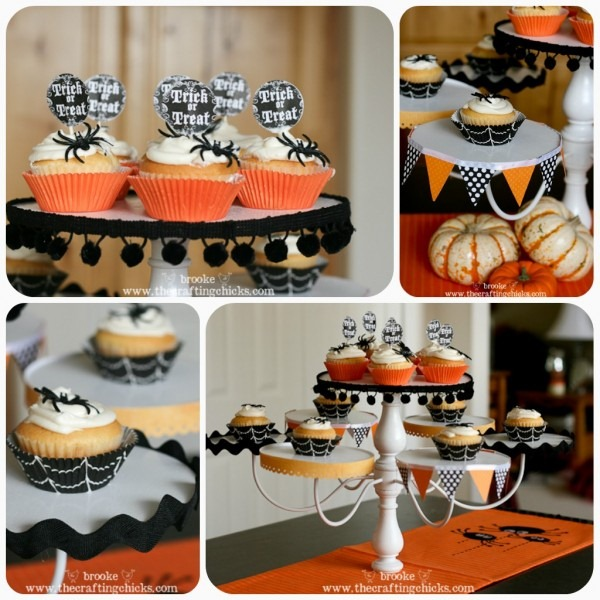 chandelier cupcake stand tutorial