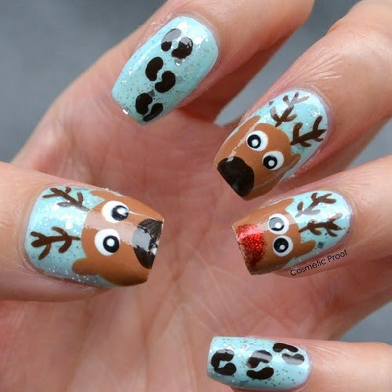 Nail Art Rudolph The Red Nosed Reindeer Cosmetic Proof Vancouver Beauty Nail Art And Lifestyle Blog