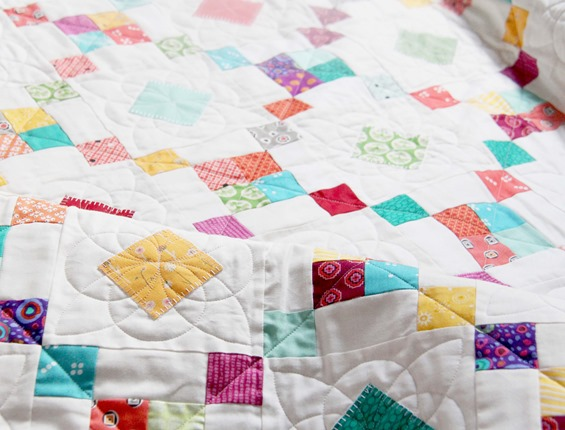 Quilting on Bangles Quilt