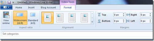 livewriter video format