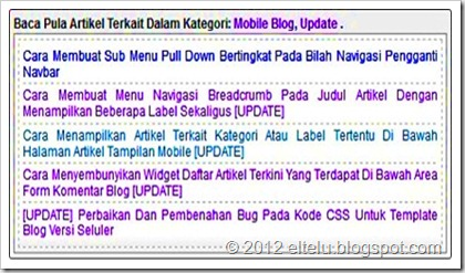 Daftar Artikel Terkait Untuk Beberapa Label Blog - ELTELU