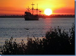 6382 Texas, South Padre Island - KOA Kampground - sunset & Black Dragon Pirate Cruise ship