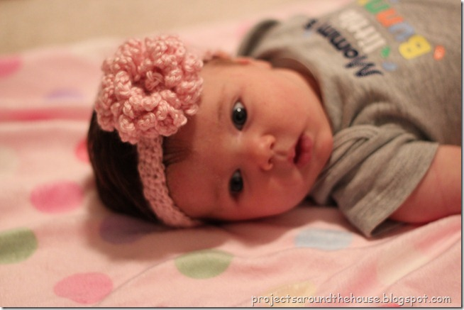 crochet baby flower headband