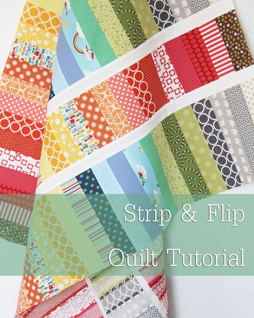 Strip and Flip Baby Quilt