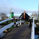 matt on the bridge in Zaandam, Noord Holland, Netherlands
