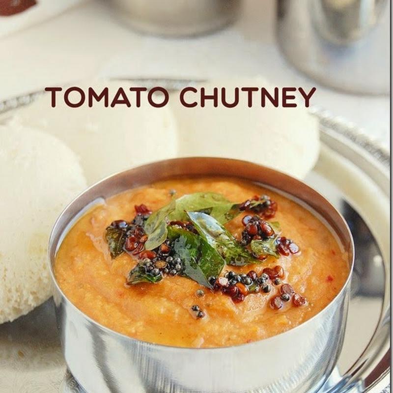 Tomato chutney without coconut / Thakkali chutney