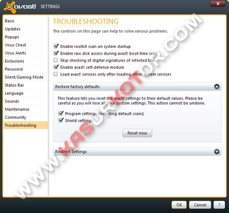 Mengembalikan/Reset Settingan Antivirus Avast ke Default/Awal