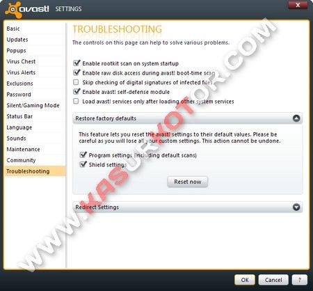 Mengembalikan/Reset Settingan Antivirus Avast ke Default/Awal