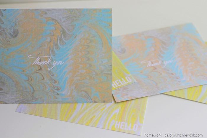 Printable Marbled Greeting Cards via homework  (3)