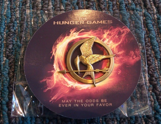 'The Hunger Games' Mockingjay Pin Swag At Comic Con   Hunger Games