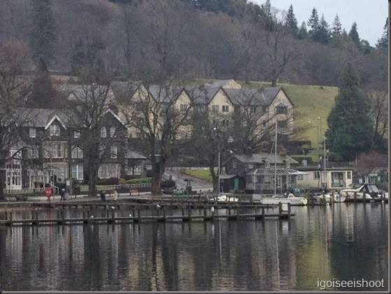 View of Waterhead Hotel from Borrans Park, Ambleside, Lake District