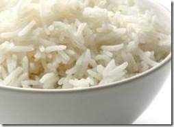 white rice bowl