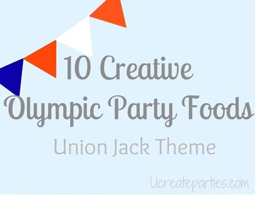 Creative Olympic Union Jack Theme Foods