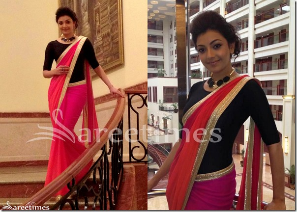 Kajal_Dual_Color_Saree