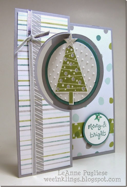 LeAnne Pugliese WeeInklings  Merry Monday 128 Festival of Trees Good Greetings Endless Christmas Wishes Stampin Up