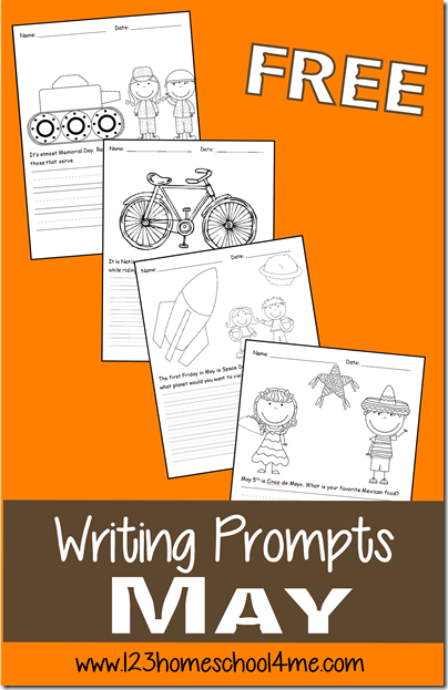 FREE May Creative Writing Prompts for K - 4th Grade
